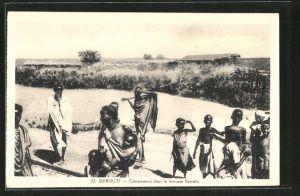 AK Djibouti, Campement dans la brousse Somalis
