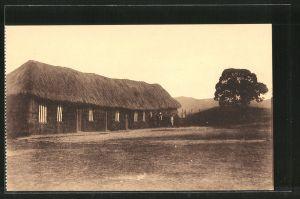 AK Rusengo, Het graswoonhuis der missionarissen, Habitation provisoire des missionnaires