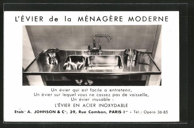AK L\'Évier de la Ménagère Moderne, Küchenzeile, Armaturen und Waschbecken,  Rostfrei