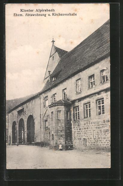 AK Alpirsbach, Partie am Kloster, ehem. Abtswohnung und Kirchvorhalle