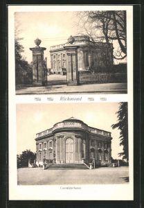AK Braunschweig, Partie am Schloss Richmond & Cavalierhaus
