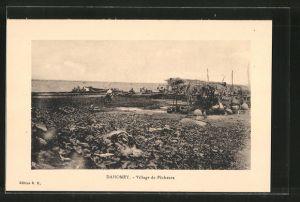 AK Dahomey, Village de Pecheurs, Fischer