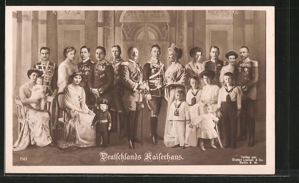 AK das deutsche Kaiserhaus von Hohenzollern