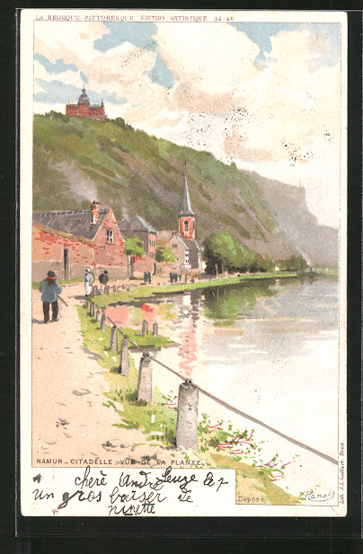 Künstler-AK F. Ranot: Namur, citadelle, vue da la plante