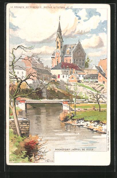 Künstler-AK F. Ranot: Rochefort, hôtel de Ville