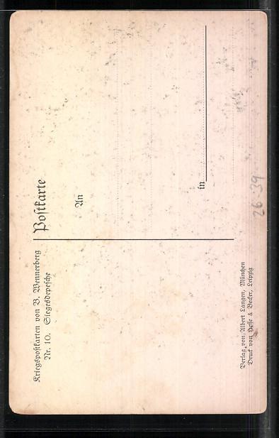 Künstler-AK Brynolf Wennerberg: Kriegspostkarten: Nr. 10: