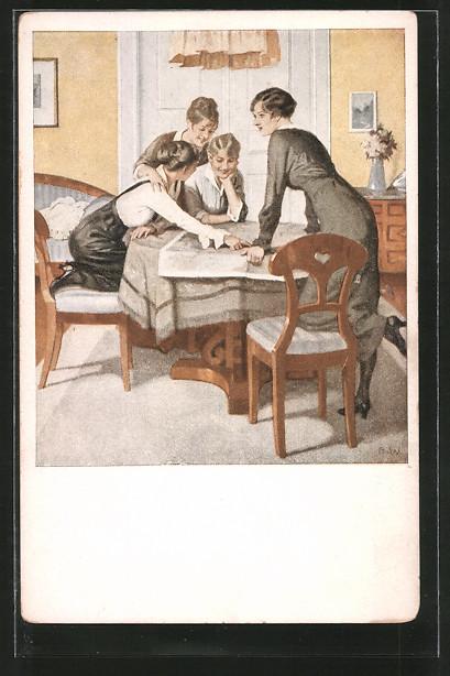 Künstler-AK Brynolf Wennerberg: Kriegspostkarten: Nr. 6: