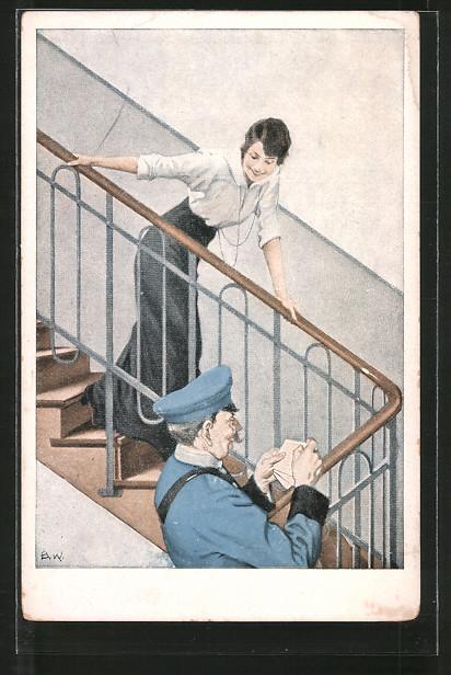 Künstler-AK Brynolf Wennerberg: Kriegspostkarten: Nr. 5:
