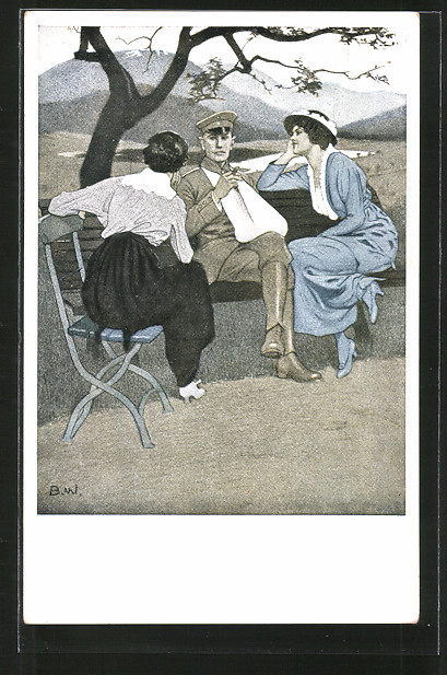 Künstler-AK Brynolf Wennerberg: Kriegspostkarten: Nr. 3: