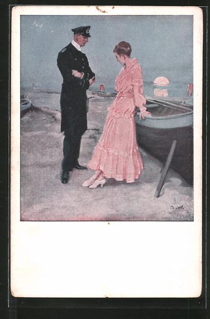 Künstler-AK Brynolf Wennerberg: Kriegspostkarten: Nr. 21: