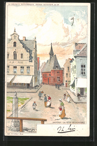 Künstler-AK F. Ranot: Anvers, la tête de Flandre