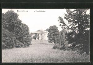 AK Braunschweig, Park Richmond mit Schloss