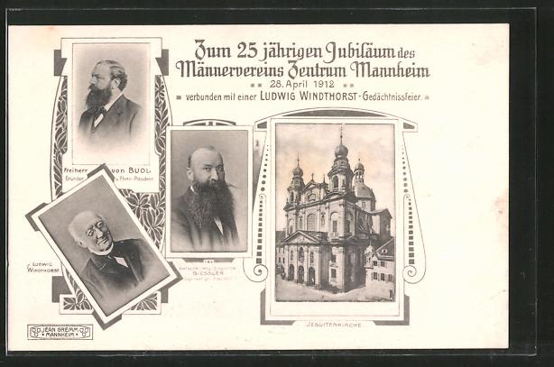 AK Mannheim, 25 jährigen Jubiläum des Männervereins Zentrum Mannheim, Jesuitenkirche