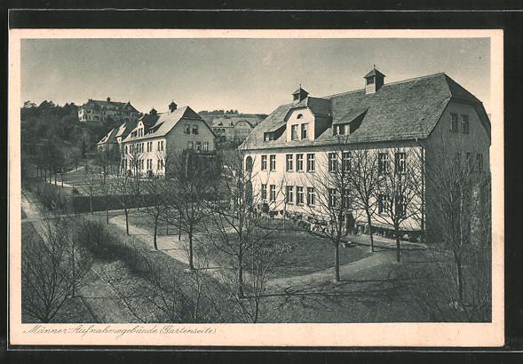 AK Herborn, Landes-Heil- u. Pflege-Anstalt, Männer-Aufnahmegebäude, Gartenseite