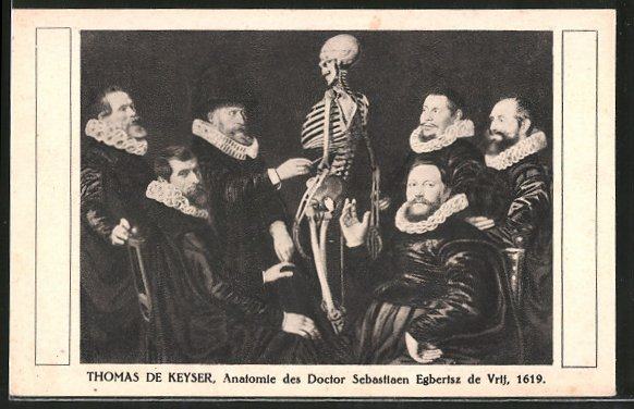 Künstler-AK Anatomie des Doctor Sebastiaen Egbertsz de Vrij ...