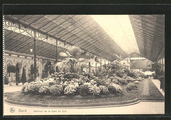 AK Gand, Intérieur de la Gare du Sud, Süd-Bahnhof Nr. 6938820 ...