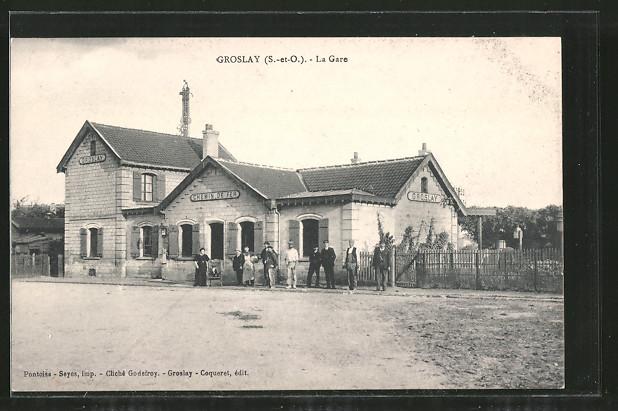 AK Groslay, la Gare, Bahnhofsgebäude