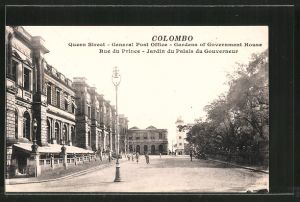AK Colombo, Queen Street, General Post Office, Gardens of Government House, Rue du Prince