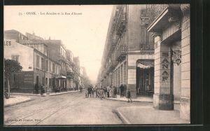 AK Oran, Les Arcades et la Rue d'Arzew