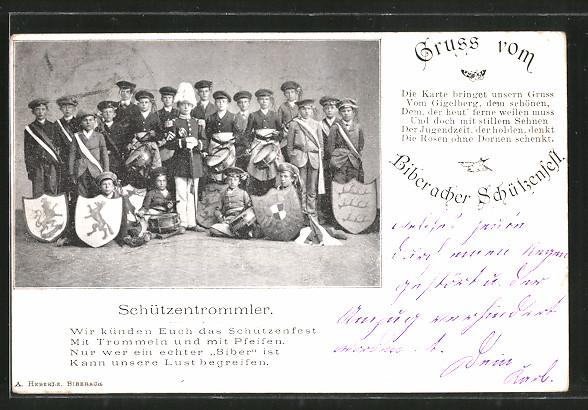 AK Biberach, Schützenfest, Gruppenbild Schützentrommler