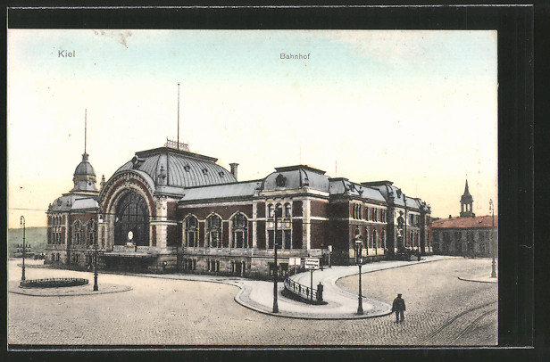AK Kiel, Blick auf den Bahnhof