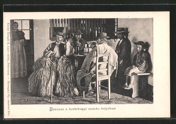 AK Borozas a hortobágyi csárda inójában, Bauern in ungarischer Tracht