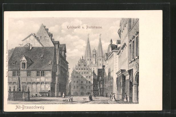 Künstler Braunschweig künstler ak braunschweig kohlmarkt mit poststrasse nr 6951639