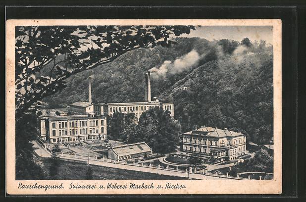 AK Rauschengrund, Spinnerei und Weberei Marbach und Riecken
