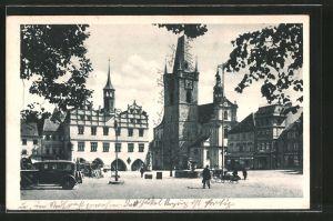 AK Leitmeritz / Litomerice, Stará radnice a mestský kostel