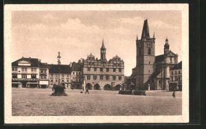 AK Leitmeritz / Litomerice, Stara radnice a mestsky kostel