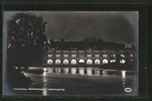 AK Trollhättan, Kraftstationen i nattbelysning