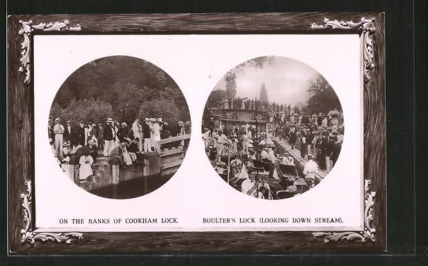AK Cookham, Banks of Cookham Lock, Boulter's Lock