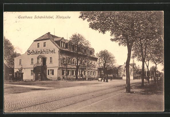 Ak Dresden Klotzsche Strassenpartie Am Gasthaus Schänkhübel Nr