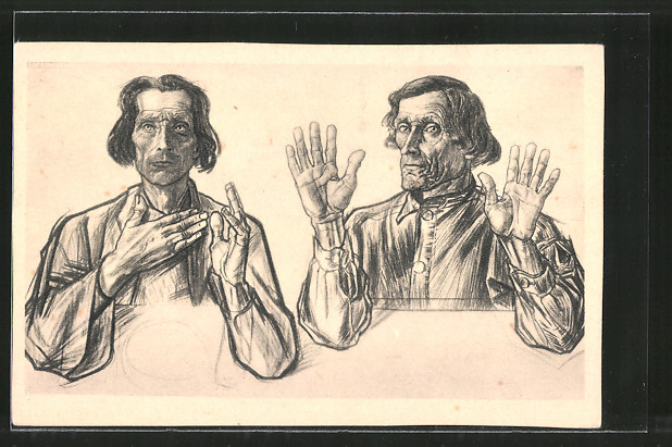 Künstler-AK Jan Toorop: Die Aposteln Andreas und Jacobus