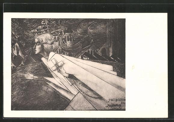 Künstler-AK Jan Toorop: 'T Heilige Schreed Heen