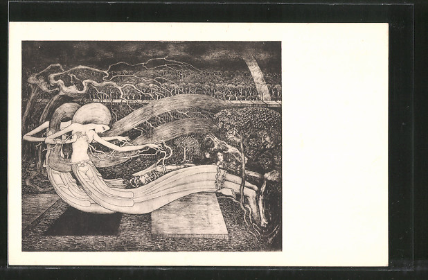 Künstler-AK Jan Toorop: O Grave where is they victory