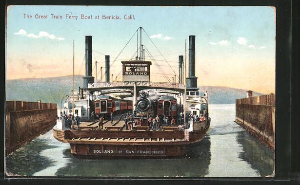 AK Benicia, The Great Train Ferry Boat - Fährschiff