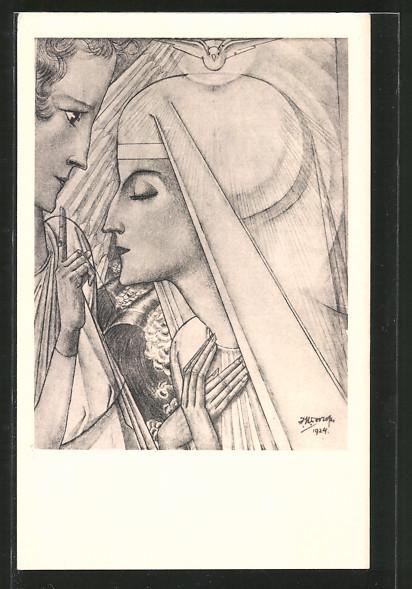 Künstler-AK Jan Toorop: Annunciatie, Verkündigung