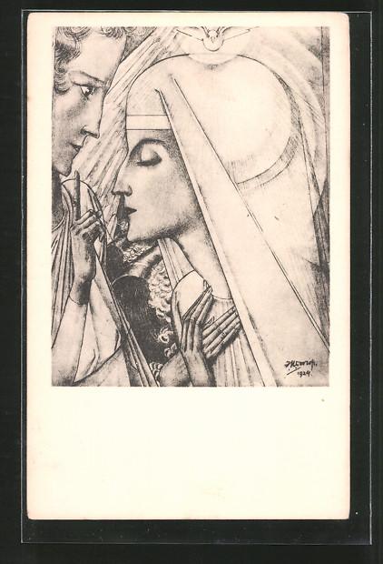 Künstler-AK Jan Toorop: Annunciatie
