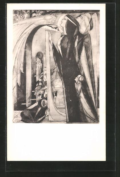 Künstler-AK Jan Toorop: Inspiratie, Gondel
