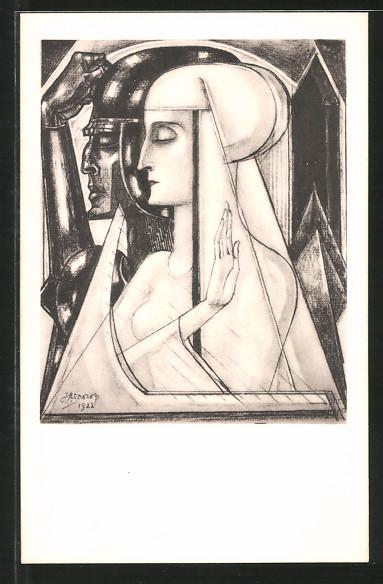 Künstler-AK Jan Toorop: Oorlog en Vrede