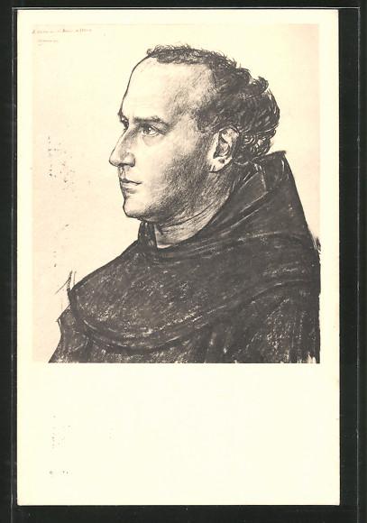 Künstler-AK Jan Toorop: Pater Boromeus de Greeve