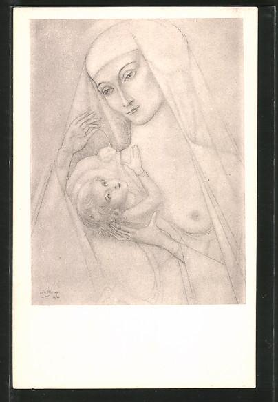 Künstler-AK Jan Toorop: Madonna mit dem Jesuskind