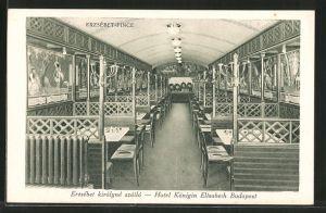 AK Budapest, Erzsébet királyné szálló, Erzsébet-Pince, Egyetem-Utca 5, Hotel Königin Elisabeth, Innenansicht