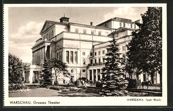 AK Warschau-Warszawa, Grosses Theater / Teatr Wielki