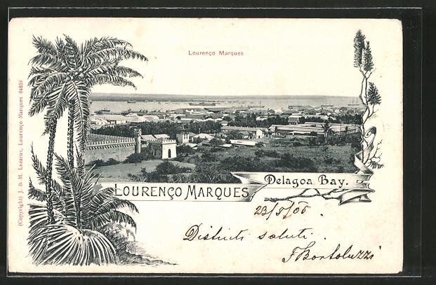 AK Lourenco Marques, Teilansicht mit Blick zur Delagoa Bay