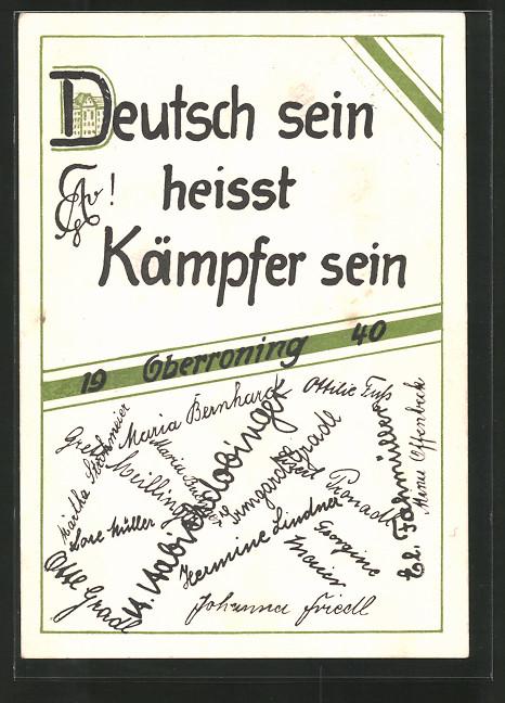AK Oberroning, Absolvia 1940,