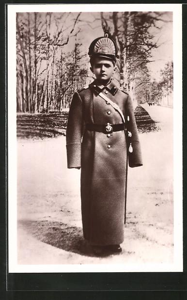 AK Zarewitsch Alexej Nikolajewitsch Romanow in übergrosser Uniform