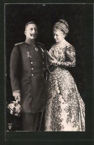 AK Kaiser Wilhelm II. nebst seiner Gattin