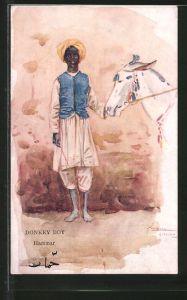 Künstler-AK Hammar, Donkey Boy